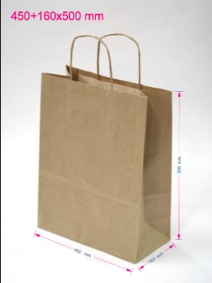Papirnate vrečke 450 + 160 x 500